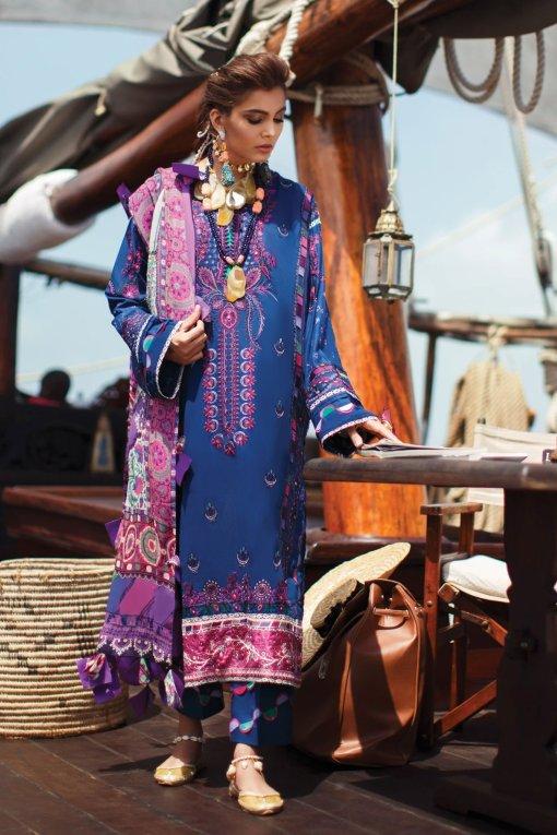 Elan Luxury Lawn Unstitched 3 Piece Suit ELL20 12 B AMARLI – Lawn Collection