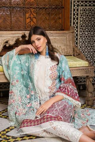 Sobia Nazir Embroidered Lawn Unstitched 3 Piece Suit SBNL20 15 A - Lawn Collection