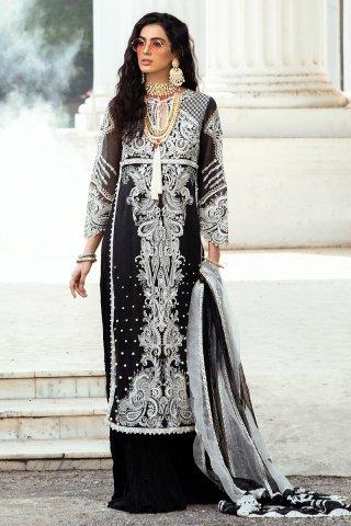 Mushq Luxury Chikankari Festive Lawn Unstitched 3 Piece Suit MFL20-01 - Summer Collection