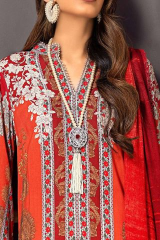 Muzlin by Sana Safinaz Linen Unstitched 2 Piece Suit MWSS20 03B –  Winter Collection