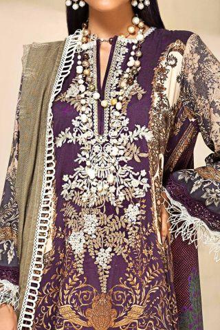 Muzlin by Sana Safinaz Linen Unstitched 3 Piece Suit MWSS20 07A - Winter Collection