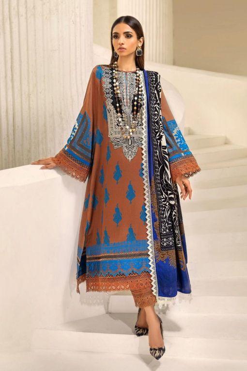 Muzlin by Sana Safinaz Cotton Satin Unstitched 3 Piece Suit MWSS20 10B – Winter Collection