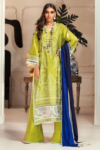 Muzlin by Sana Safinaz Cotton Satin Unstitched 3 Piece Suit MWSS20 18B -Winter Collection