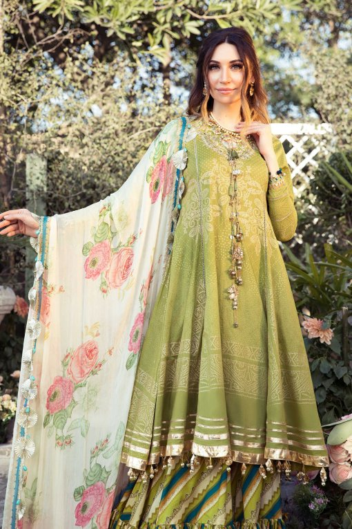 Mprints by Maria B Printed Lawn Unstitched 3 Piece Suit 04 B – Summer Collection