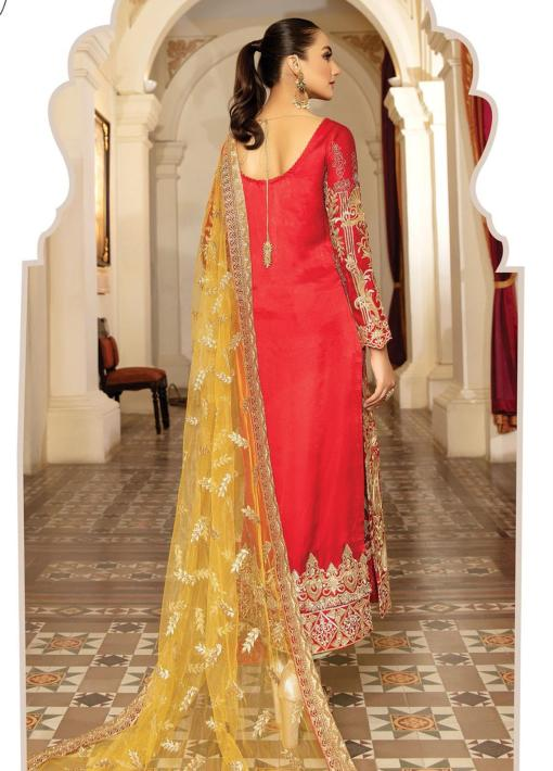 Regence by Imrozia Embroidered Chiffon Unstitched 3 Piece Suit I-129 MELANGER – Wedding Collection