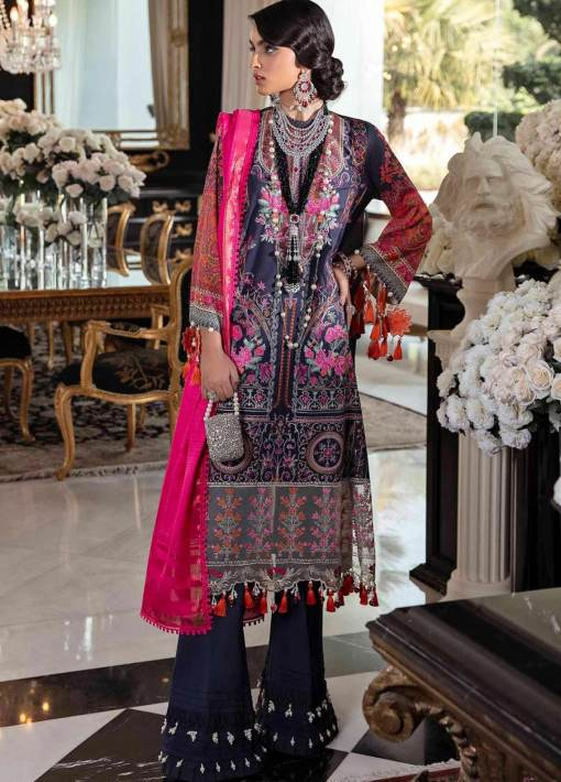 Sana Safinaz Embroidered Lawn Unstitched 3 Piece Suit 06-A – Summer Collection