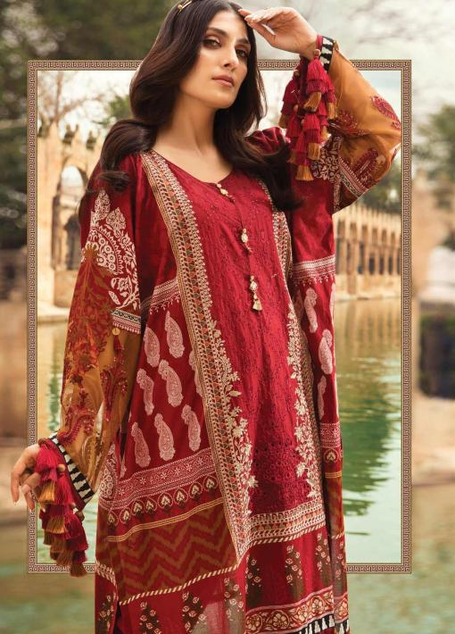 Maria B Embroidered Lawn Unstitched 3 Piece Suit 02 A – Summer Collection