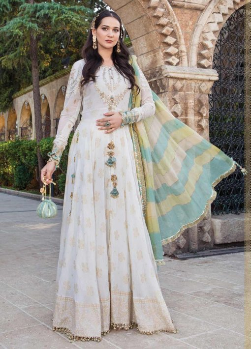 Maria B Embroidered Jacquard Unstitched 3 Piece Suit 04 A – Summer Collection