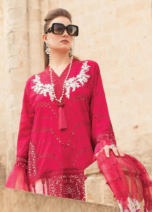 Maria B Embroidered Lawn Unstitched 3 Piece Suit 05 B – Summer Collection