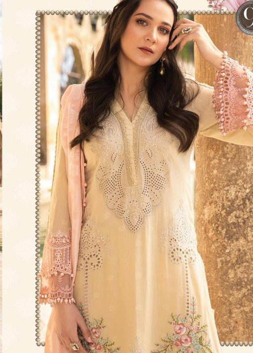 Maria B Embroidered Lawn Unstitched 3 Piece Suit 09 B – Summer Collection