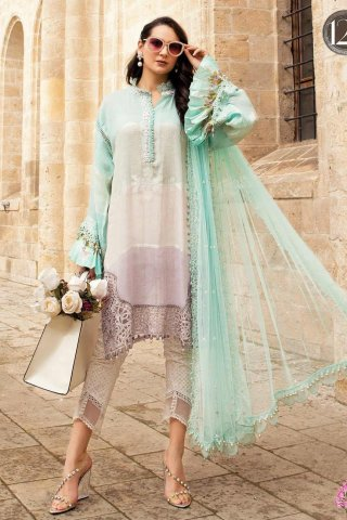Maria B Embroidered Woven Yarn Unstitched 3 Piece Suit 12 B – Summer Collection