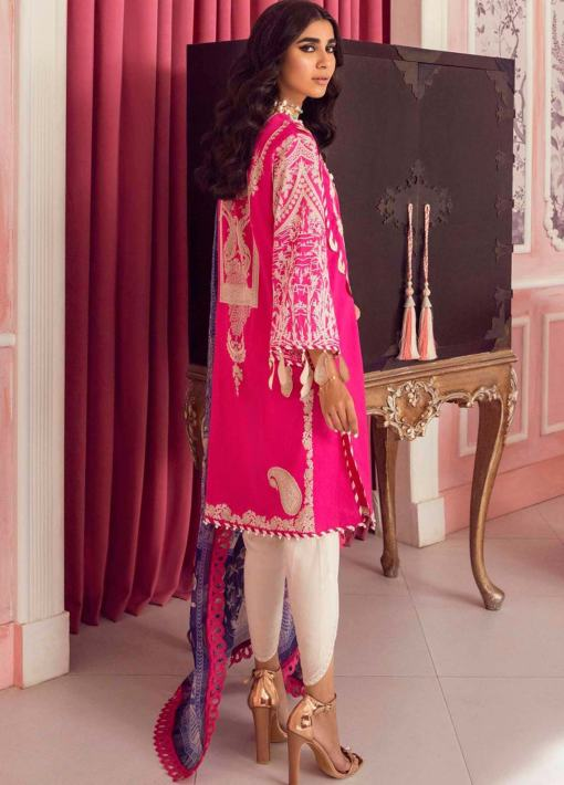 Muzlin by Sana Safinaz Embroidered Lawn Unstitched 3 Piece Suit 11A – Summer Collection