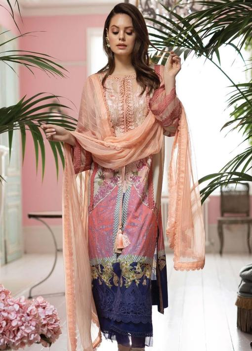 Vital by Sobia Nazir Embroidered Lawn Unstitched 3 Piece Suit 11A – Summer Collection