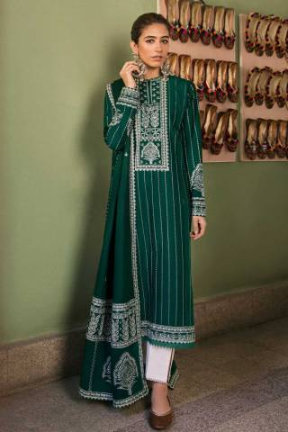 Zaha by Khadijah Shah Embroidered Lawn Unstitched 3 Piece Suit 08-A – Summer Collection