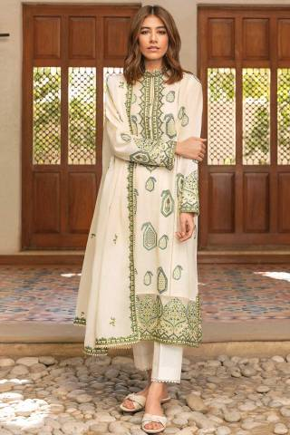 Zaha by Khadijah Shah Embroidered Lawn Unstitched 3 Piece Suit 15-B – Summer Collection