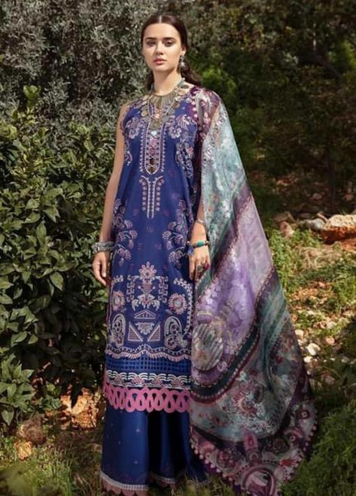 Selene By Republic WomensWear Embroidered Luxury Lawn Unstitched 3 Piece Suit 01A Adiva – Summer Collection