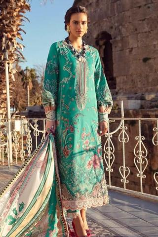Selene By Republic WomensWear Embroidered Luxury Lawn Unstitched 3 Piece Suit 05A Zeena – Summer Collection