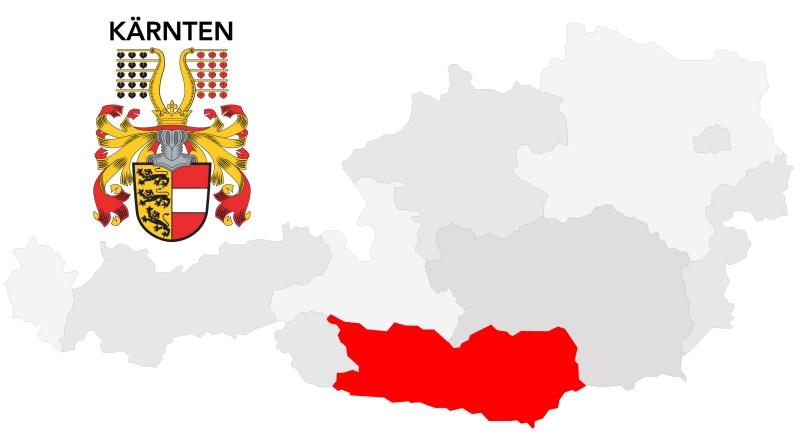 Kärnten. Wappen von Kärnten. Rezepte aus Kärnten