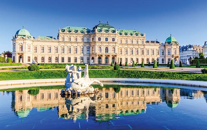 Schloss Belvedere. Donauradweg