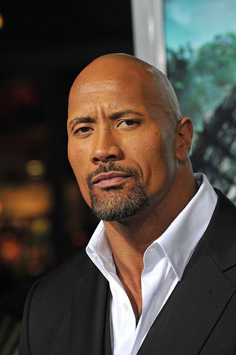"""Protrait von Dwayne """"The Rock"""" Johnson im Anzug"""