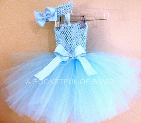 Light Blue Princess Tutu Dress Toddler