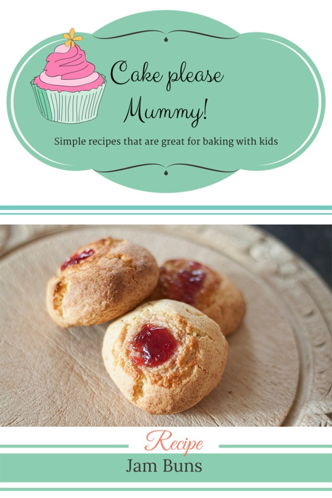 Delicious jam buns that are great for baking with kids. Recipe on http://www.apocketfulofdandelions.com