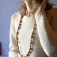 Tricot : Pull ample au point mousse