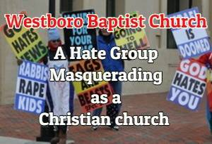 Westboro baptist church protesters