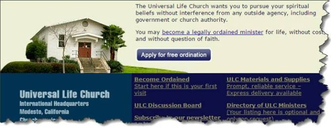 Universal Life Church screenshot
