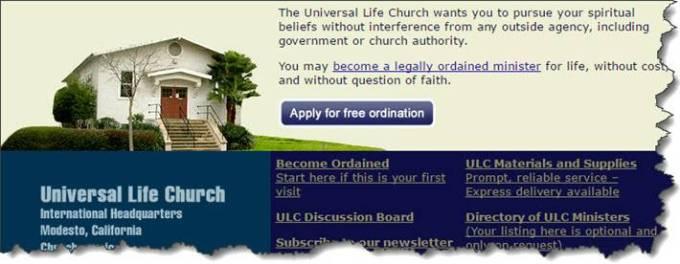 Universal Life Church screenshot