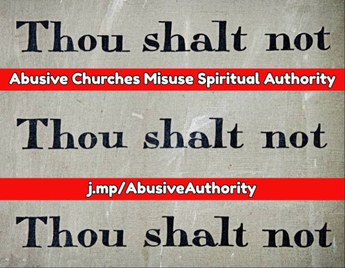 Abusive spiritual authority