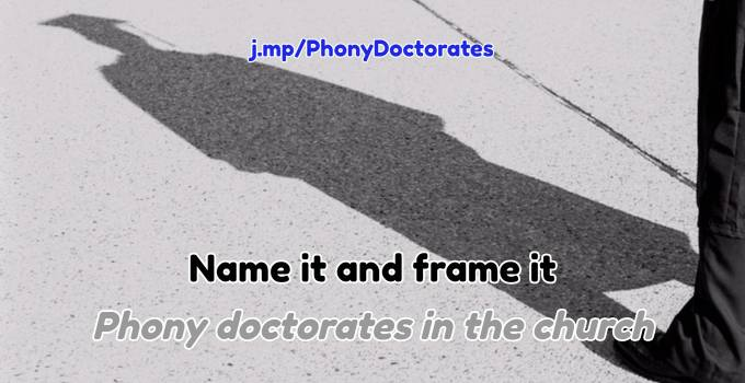 phony doctorate decree