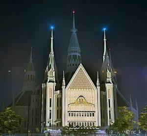 Central Temple of Iglesia ni Cristo in Quezon City, Philippines.  Photo by Ric_K
