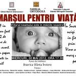 La Suceava, marşul pentru Viaţa, miercuri, ora 17:30