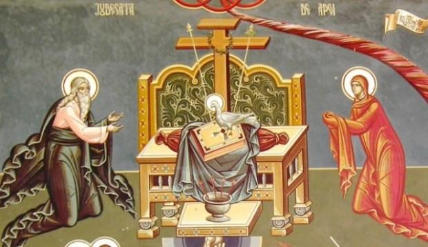 Duhul Sfant - fresca Manastirea Petru Voda