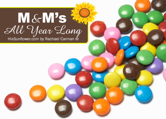 M&M's All Year Long with {free} printables from www.HisSunflower.com by Rachael Carman