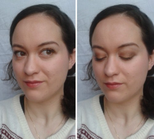 bronze maquillage réveillon