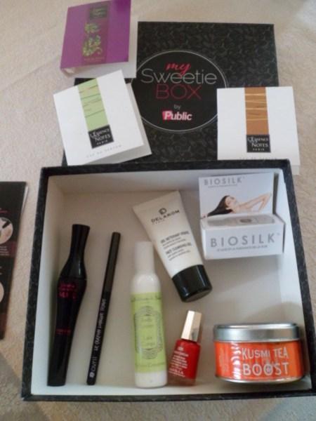 contenu my sweetie box