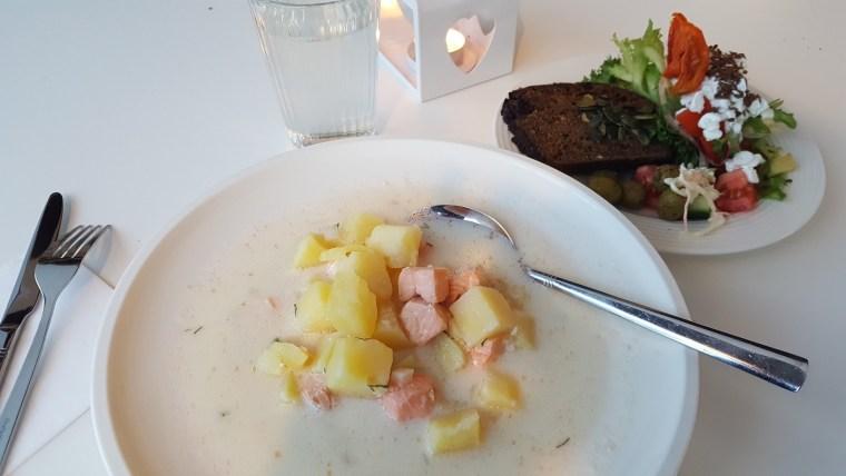 soupe de saumon pommes de terre