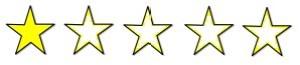1 étoiles