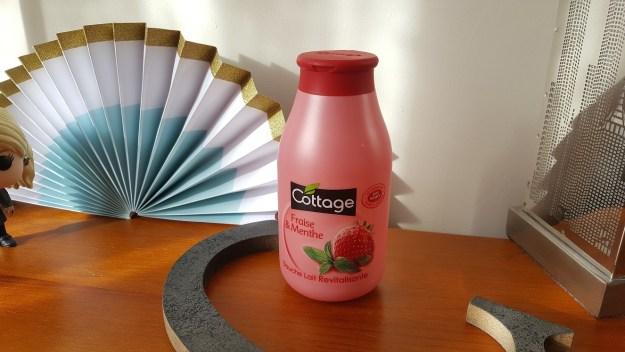 douche lait fraise menthe cottage