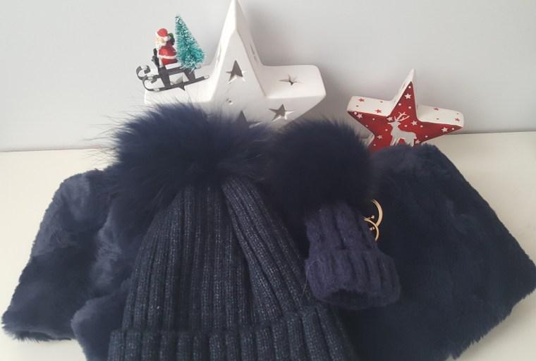 bonnet écharpe fourrure