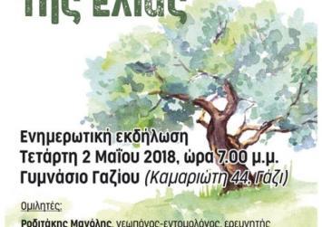 Εκδήλωση για τη φυτοπροστασία της Ελιάς