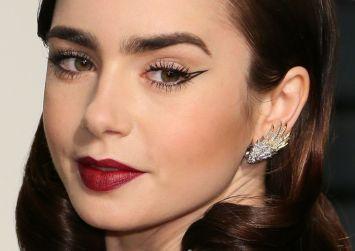 Το μυστικό της Lily Collins για να έχει πάντα τέλεια γραμμή eyeliner