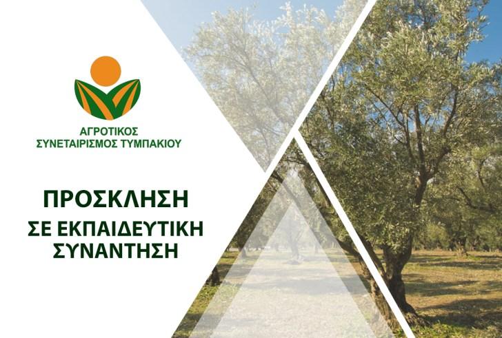Εκπαιδευτική Συνάντηση για την Ελιά από τον Αγροτικό Συνεταιρισμό Τυμπακίου