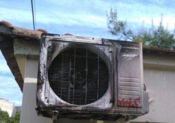 Τυλίχθηκαν στις φλόγες τα κλιματιστικά σπιτιού!