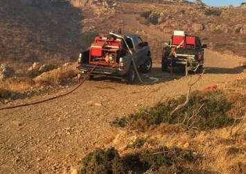 Κρήτη: Φωτιές, σε στύλο και σε ξερά χόρτα