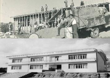 Όταν χτιζόταν το 1ο Δημοτικό Σχολείο Μοιρών