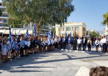Μαθητές, φοιτητές, εκπαιδευτικοί, αρχές τιμούν στο Ηράκλειο την  28η Οκτωβρίου 1940