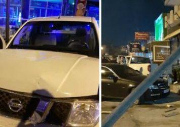 Κρήτη: Αγροτικό έπεσε σε τζαμαρία επιχείρησης